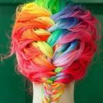 Coiffure multicolore