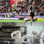 Statue de footballeur