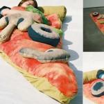 Dormir dans une pizza