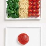 Drapeaux en nourriture