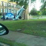 La police et un accident insolite