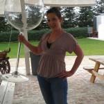 Méga verre de vin