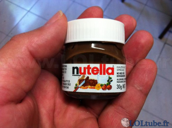 Mini pot de nutella