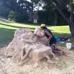 Bob et patrick dans le sable
