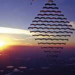 Plein de parachutistes