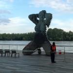 Statue en légo de nu