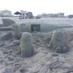 Dessin dans le sable