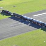 Piste d'avion dangereuse