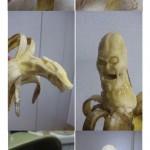Sculpture sur banane