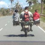 Transport d'enfants sur moto
