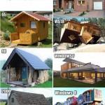Windows et des maisons
