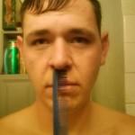 Moustache peingée