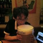 Un sacré verre de bière !