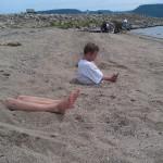 Des restes humains sur la plage
