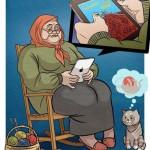 Mamie sur iPad