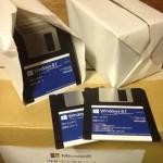 Windows 8.1 en disquettes