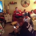 La famille accro aux écrans