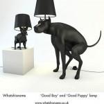 """Lampes """"chien qui fait caca"""""""