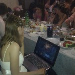 Grosse geek à un mariage