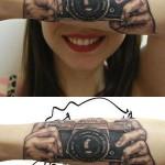 Tatouage appareil photo