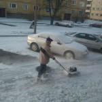Tondre la neige