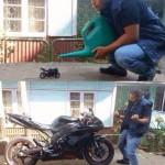 Agrandir une moto