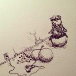Suicide de bonhomme de neige