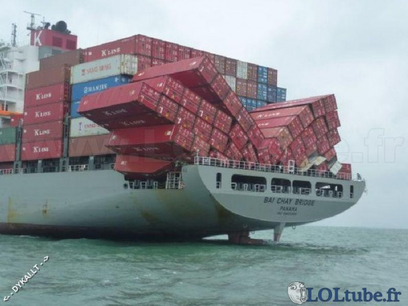 Accident de containers