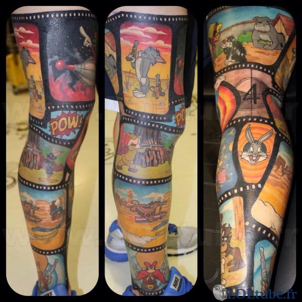 gros tatouages dessin animé - images drôles - loltube