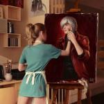Mélange de peinture et de vrai