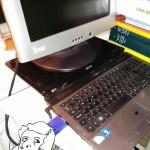 Un écran de pc portable cassé