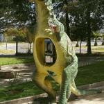 Cabine téléphonique dino