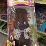 Lapin en chocolat qui pleure