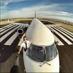 Selfie de pilote d'avion