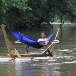 Hamac sur l'eau
