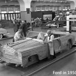 La fabrication de voiture d'autrefois