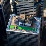 Piste d'aterrissage sur un immeuble
