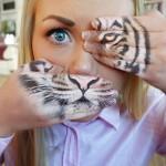 Un visage de tigre