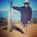 J'ai pêché un très très gros poisson