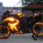 Moto lumineuse