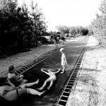 Trampoline en longueur