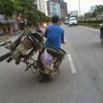 Transporter une moto en moto
