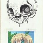 Le squelette des filles de manga