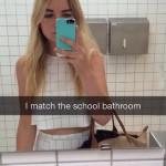 Accordé aux toilettes