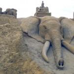 Elephant de sable