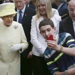 Selfie avec la reine