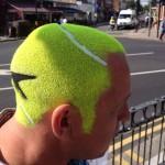 Tête balle de tennis