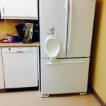 Un urinoir dans la cuisine
