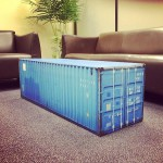 Table basse container