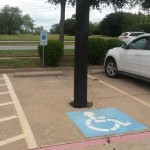 La place pour handicapé